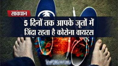 Photo of जूतों के माध्यम से भी कोरोना का संक्रमण फैल सकता है, आइए, जानते हैं इस बारे में